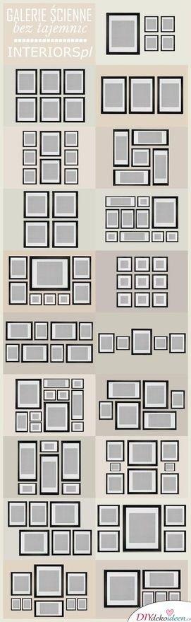 30+ Fotowände und Fotocollagen Ideen - Fotowand Ideen Interieur