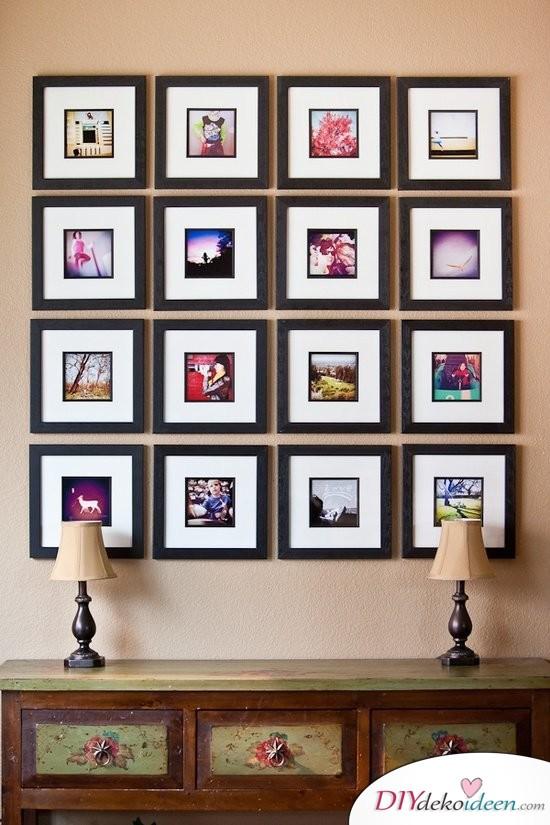 30+ Fotowände und Fotocollagen Ideen - Familienfotos