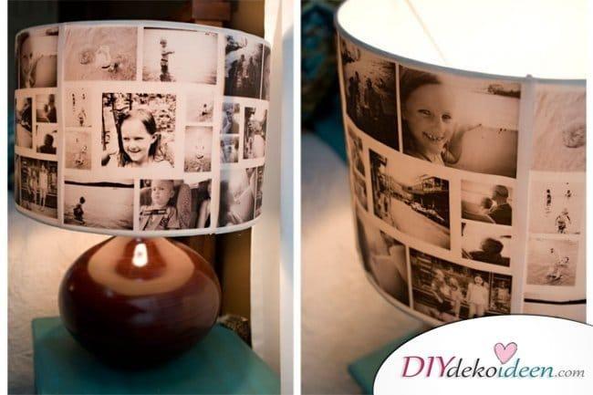 30+ Fotowände und Fotocollagen Ideen - Fotolampe