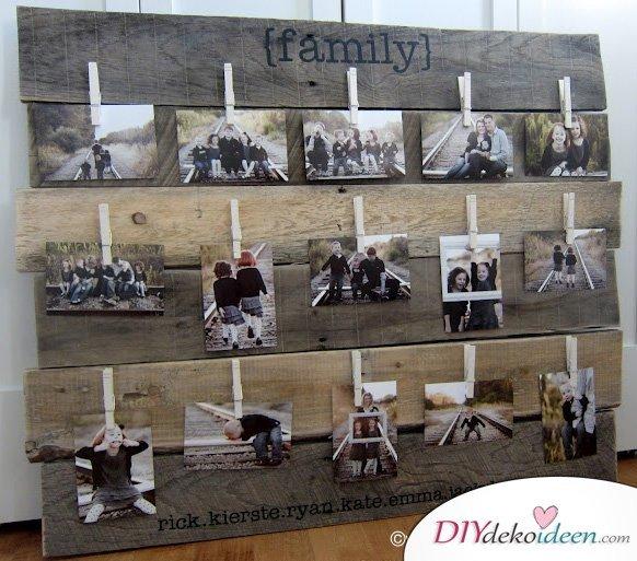 30+ Fotowände und Fotocollagen Ideen - Famiienfotos dekorieren