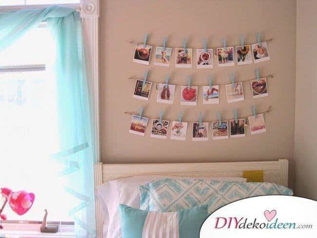 30+ Fotowände und Fotocollagen Ideen - Zimmer dekorieren
