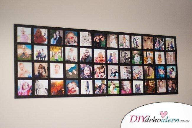 30+ Fotowände und Fotocollagen Ideen - Zimmer dekorieren mit Fotos