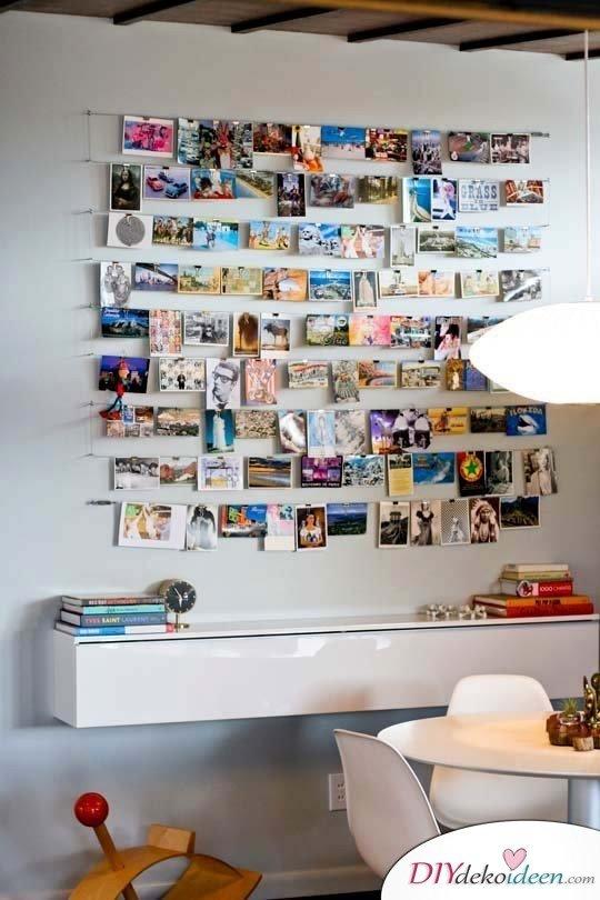 30+ Fotowände und Fotocollagen Ideen - Wohnzimmer Dekoideen