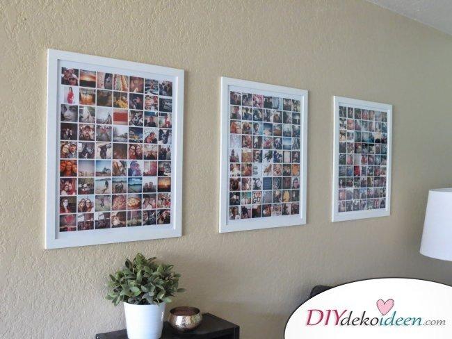 30+ Fotowände und Fotocollagen Ideen - mit Fotos dekorieren