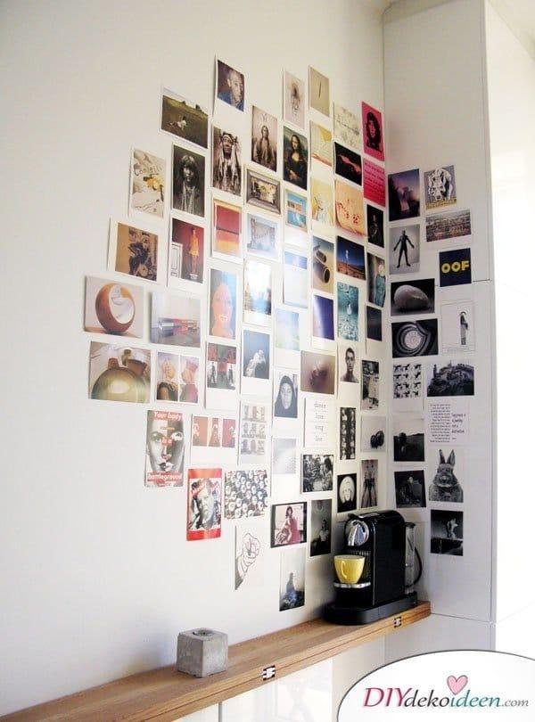 30+ Fotowände und Fotocollagen Ideen - Fotowand