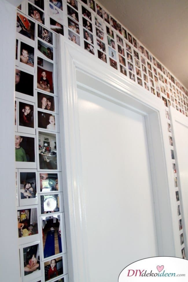 30+ Fotowände und Fotocollagen Ideen - Fotowand gestalten