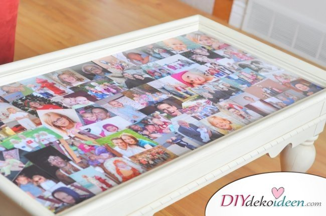 30+ Fotowände und Fotocollagen Ideen - Fototisch selber machen
