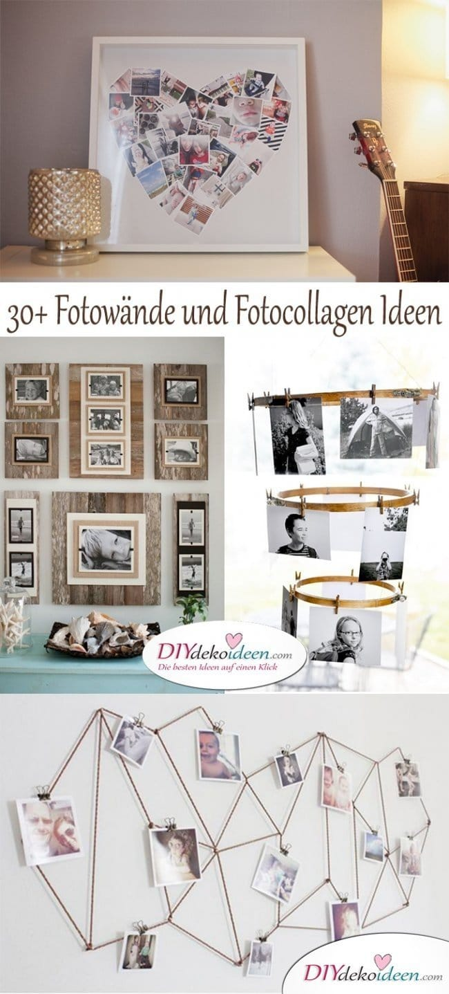 fotocollage ideen fotocollage selber machen 20 coole. Black Bedroom Furniture Sets. Home Design Ideas