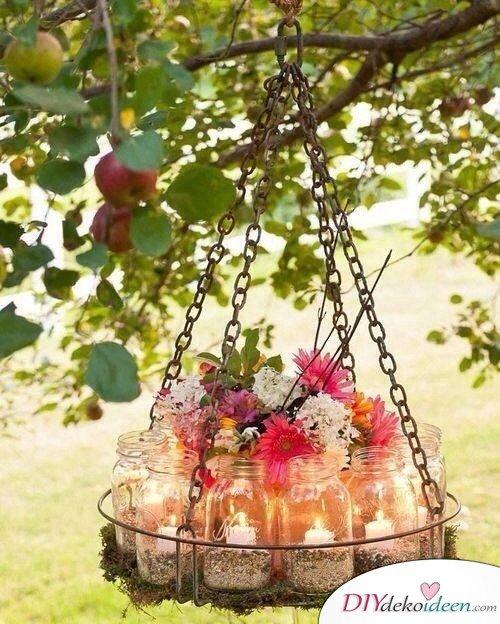 Hochzeitsdeko mit Einmachgläsern - DIY Dekoideen Hochzeit