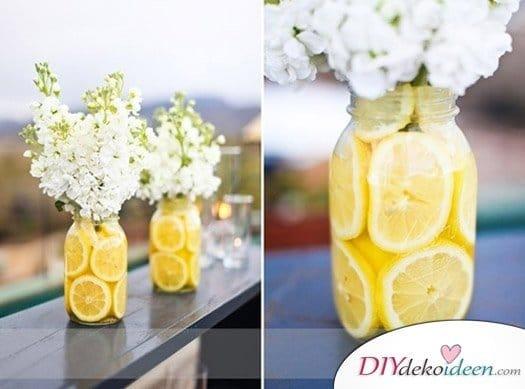 Hochzeitsdeko mit Einmachgläsern - DIY Hochzeit Deko