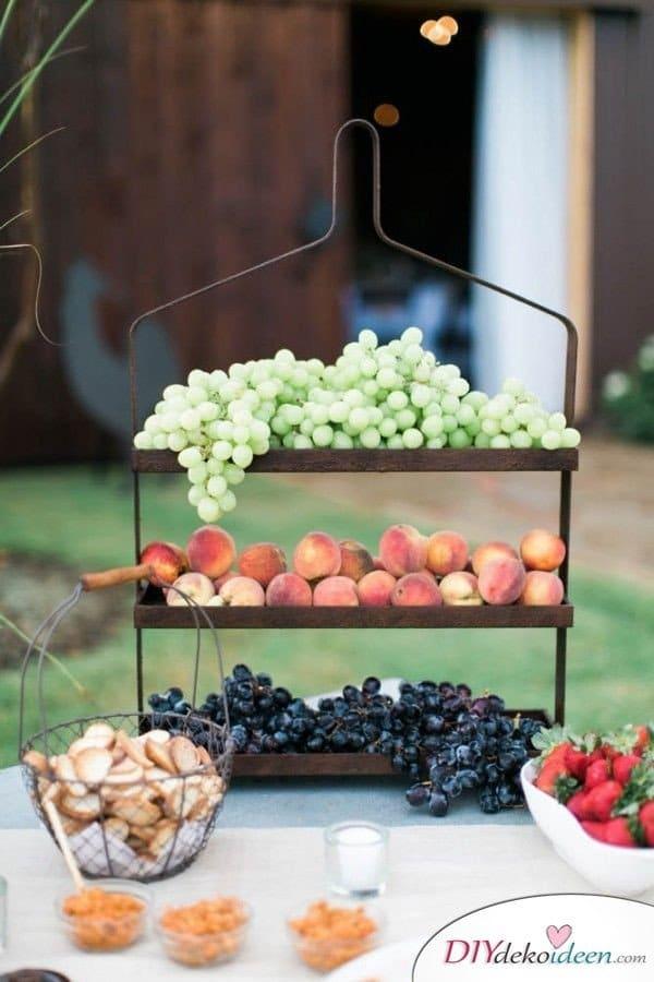 Obst Deko zur Hochzeit – Früchte Tischdeko