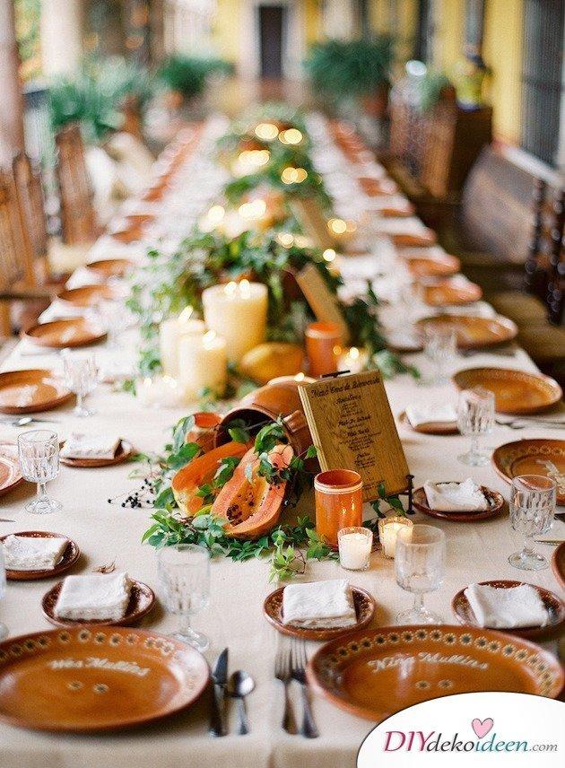 Obst Deko zur Hochzeit – Tischschmuck