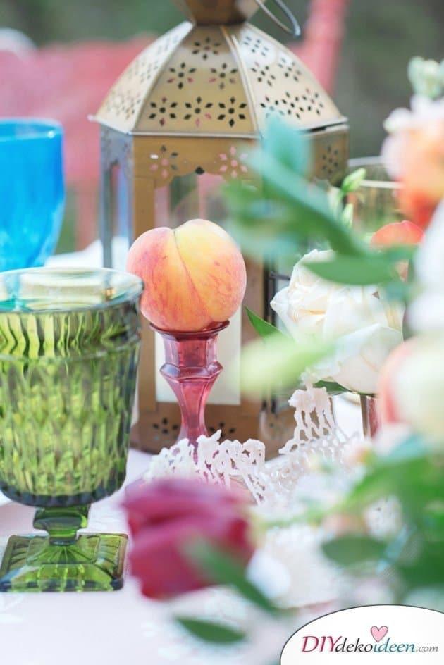 Obst Deko zur Hochzeit – Tisch deko Ideen