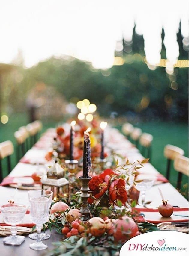 Obst Deko zur Hochzeit – Tischdeko Ideen