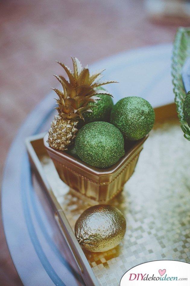 Obst Deko zur Hochzeit – Zitronen Tischdeko