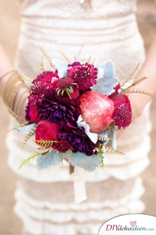 Obst Deko zur Hochzeit – Brautstrauß mit Beeren