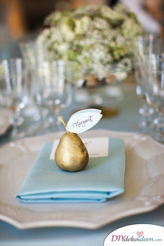 Obst Deko zur Hochzeit – Platzkarten