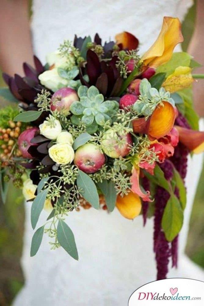 Obst Deko zur Hochzeit – Brautstrauß Ideen