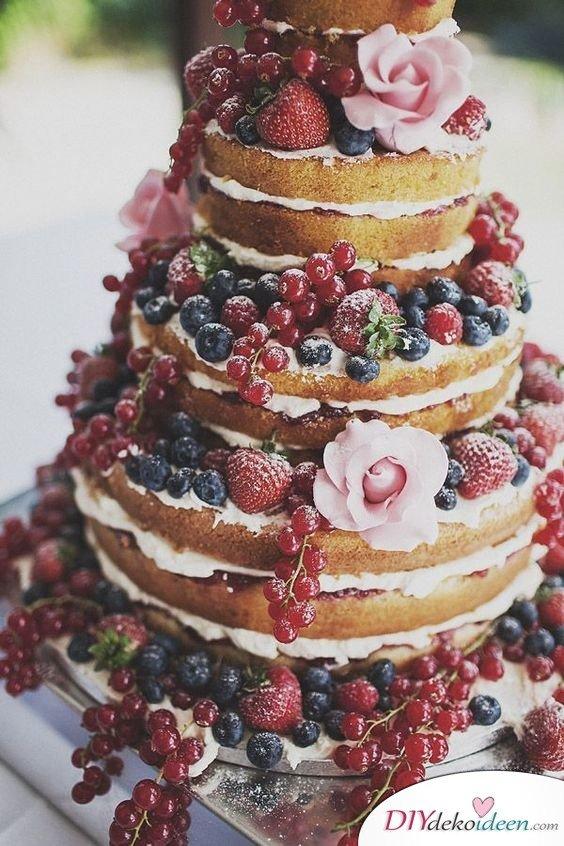 Obst Deko zur Hochzeit – Hochzeitstorten Ideen