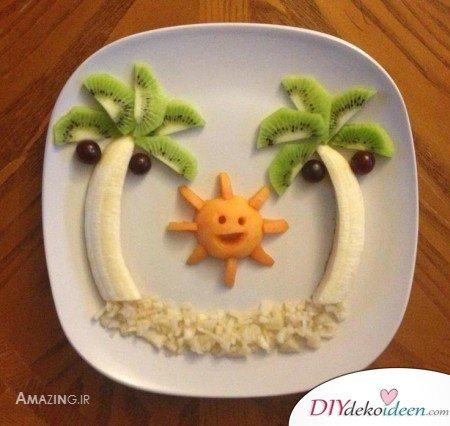 Obst für Kinder - Dessert Rezeptideen