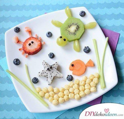 Obst für Kinder - Früchte dekorieren