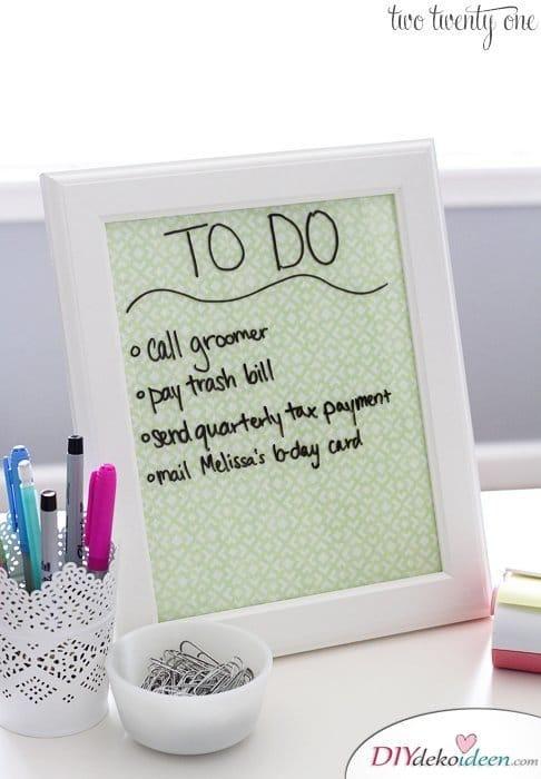Schulsachen selber basteln - Schreibwand mit Washi-Tape