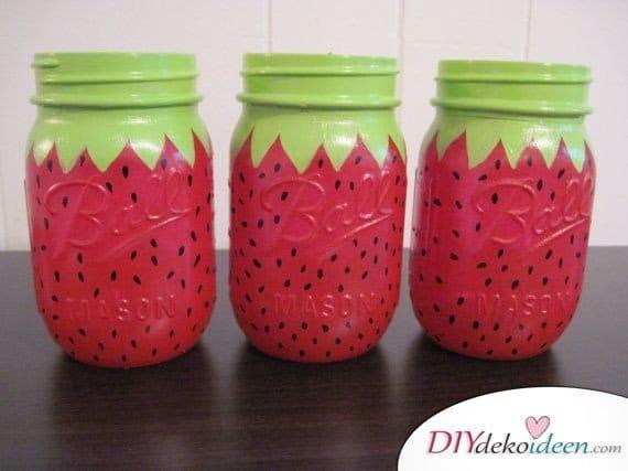 30 Sommerparty Deko Ideen - DIY Deko basteln mit Mason Jar