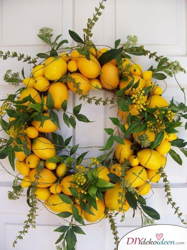 30 Sommerparty Ideen Deko mit Zitronen