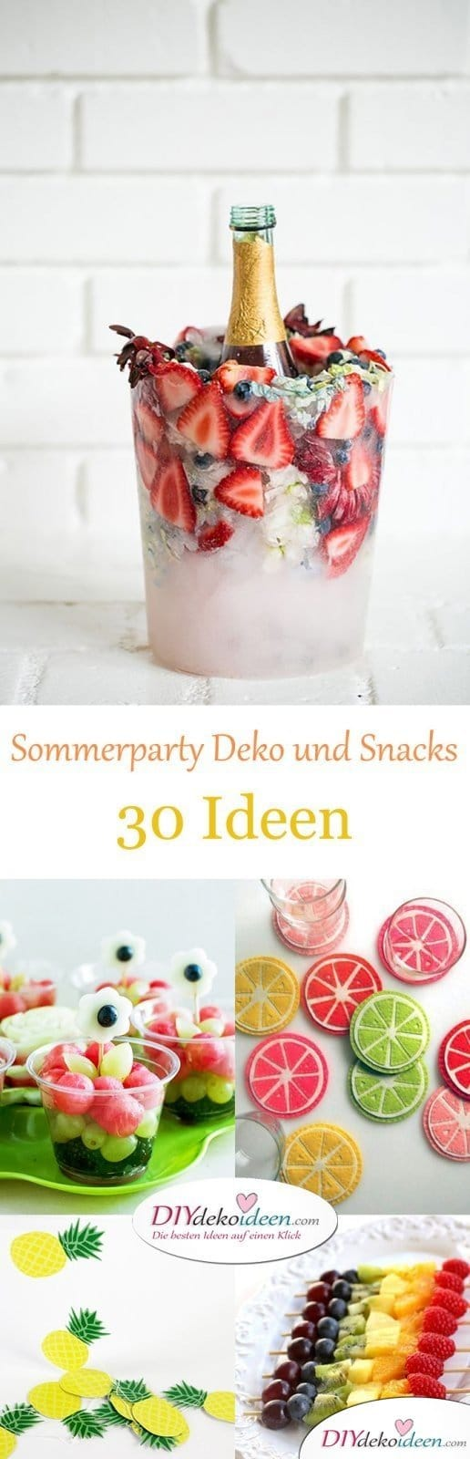 30 sommerparty deko und snack ideen diy dekoideen. Black Bedroom Furniture Sets. Home Design Ideas