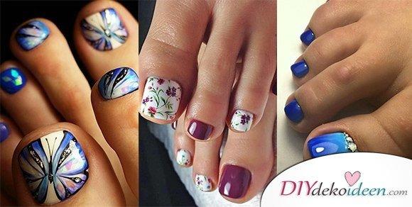 Süße Pediküre Ideen für schöne Fußnägel Designs