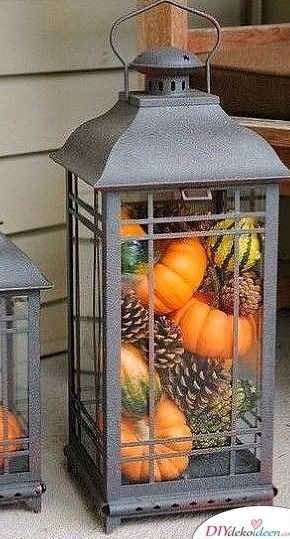 Deko mit Kürbissen - 15 Dekoideen für Haus und Garten - Kürbisdeko