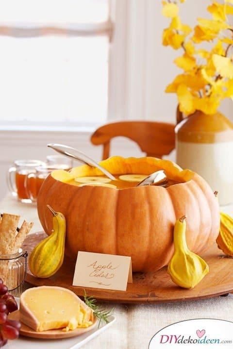 Willkommen herbst 20 ideen f r deko mit k rbissen - Deco hal halloween ...