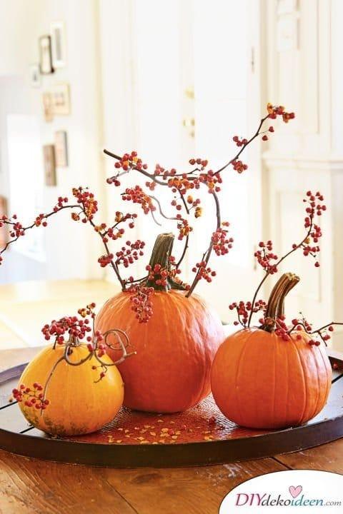 20 Ideen für Deko mit Kürbissen - Herbstdeko Ideen