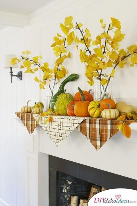 20 Ideen für Deko mit Kürbissen - Herbst dekorieren