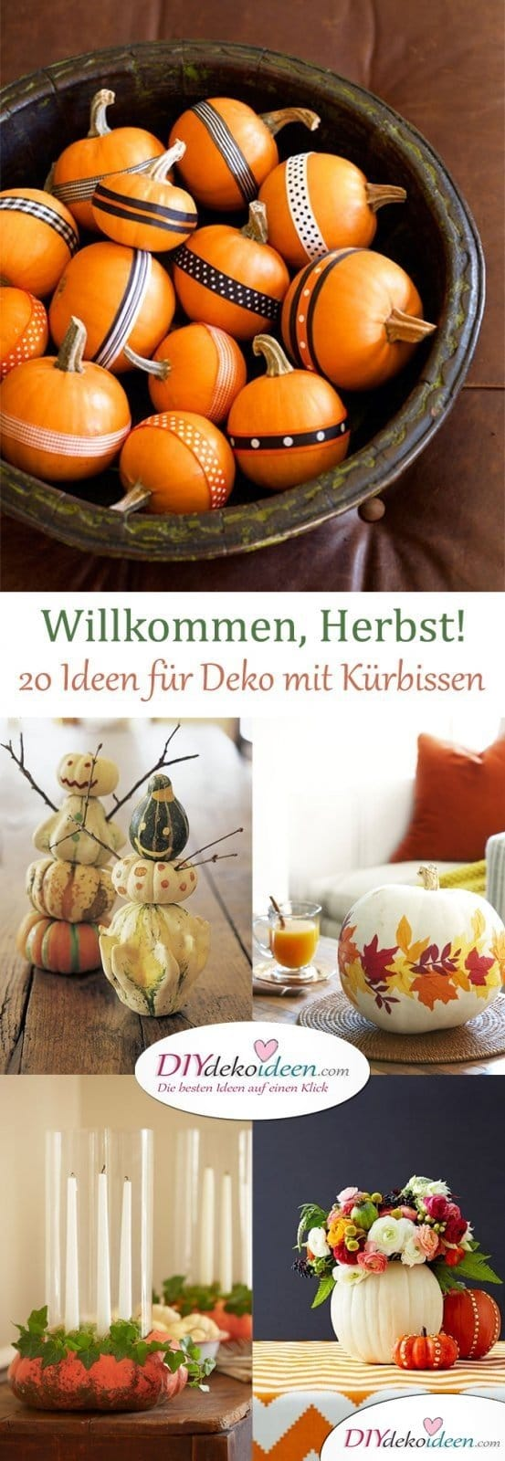 willkommen herbst 20 ideen f r deko mit k rbissen. Black Bedroom Furniture Sets. Home Design Ideas