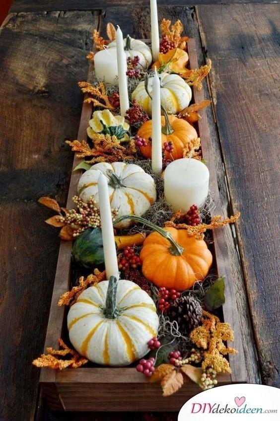 Die schönsten DIY Ideen für Erntedankfest Deko selber machen