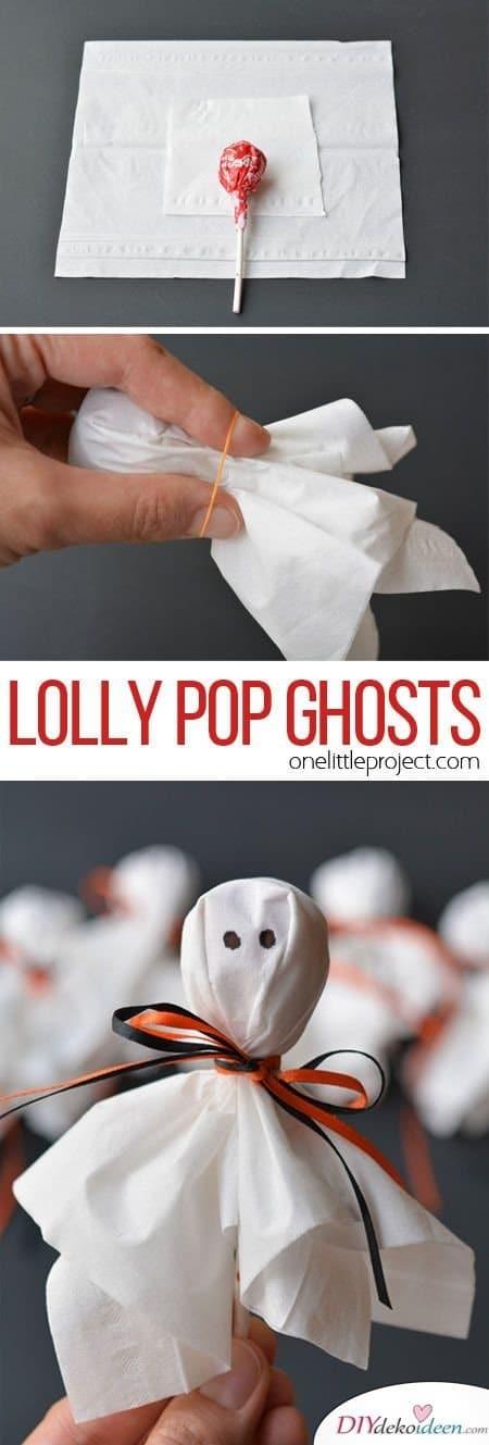 15 Halloween Bastelideen + Anleitungen - Gespensterlutscher