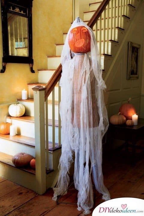 Halloween Deko selber machen - 15 Bastelideen - Kürbis Dekoideen