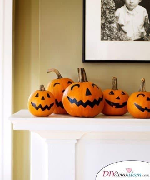 Halloween Deko selber machen - 15 Bastelideen - Kürbis Deko