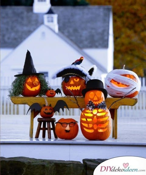 Halloween Deko selber machen - 15 Bastelideen - Deko für Halloween basteln