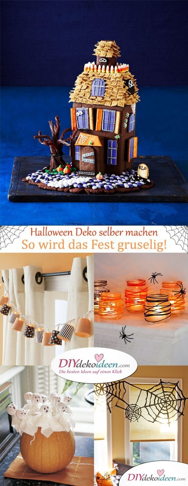 halloween deko selber machen so wird das fest richtig gruselig. Black Bedroom Furniture Sets. Home Design Ideas