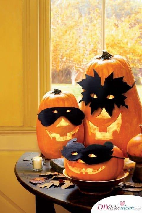 Halloween Deko selber machen - 15 Bastelideen - basteln mit Kürbissen