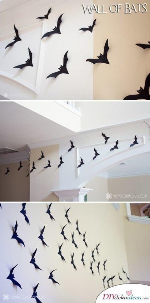 Halloween Deko selber machen - DIY Fledermaus DEko