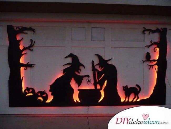 Halloween Deko selber machen - DIY Hexen Dekoidee