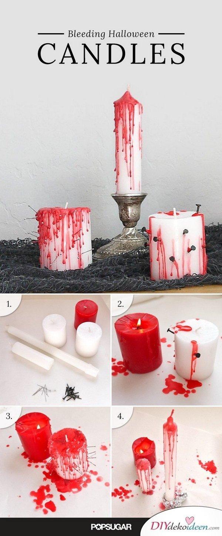 Schrecklich gruselige Halloween Deko selber machen - Halloween dekorieren