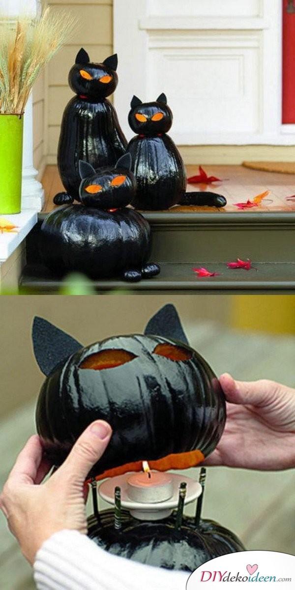 Schrecklich gruselige Halloween Deko selber machen - Kürbis Deko basteln