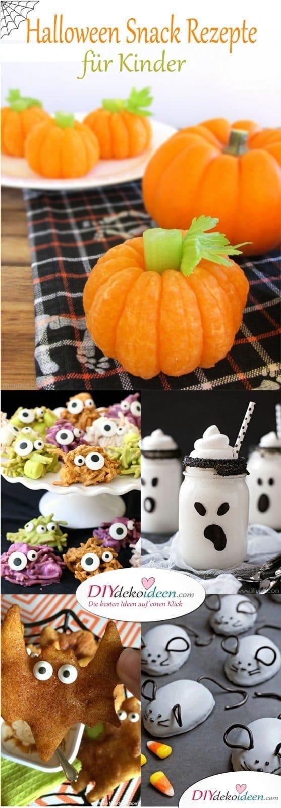 Einfache Halloween Snack Rezepte für Kinder