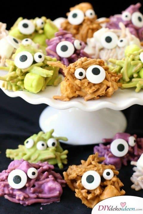 Halloween Snack Rezepte für Kinder - Verhexte Heuhaufen