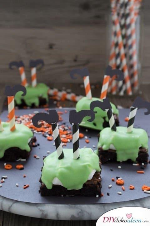 Halloween Snack Rezepte - Tote Hexen – Brownies