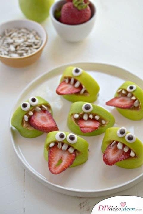 Halloween Snack Rezepte - Bissige Äpfel